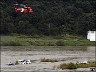 Inundación en Corea del Sur.
