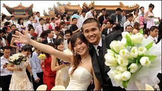 Casamento coletivo na Malásia