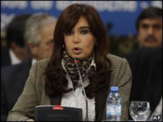A presidente da Argentina, Cristina Kirchner (AP, 28 de agosto)