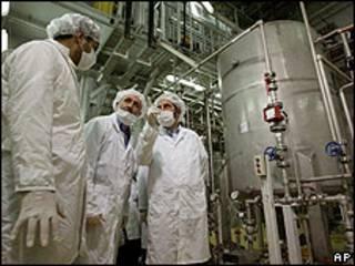 Planta nuclear iraní en Isfahan