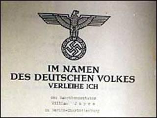 Нацистський сертифікат