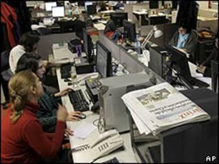 Redacción del diario Clarín