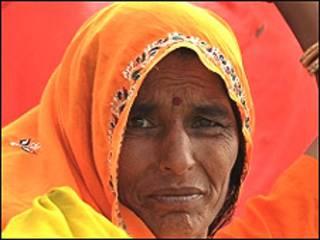 एक भारतीय ग्रामीण महिला