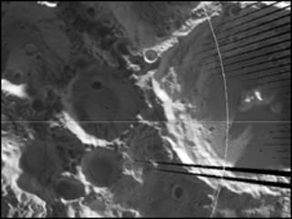 Imagem do polo sul da Lua feita pelo Diviner Lunar Radiometer Experiment (Foto: NASA/UCLA)