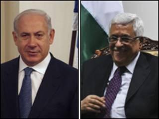 Benjamin Netanyahu e Mahmoud Abbas