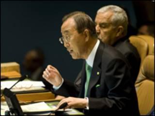 O secretário-geral da ONU, Ban Ki-Moon