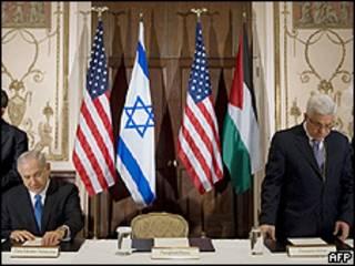 محمود عباس و بینامین نتانیاهو
