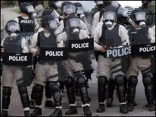 Cảnh sát chống bạo động của Mỹ tại Pittsburgh