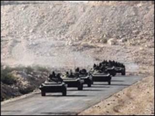 دبابات يمنية في صعدة