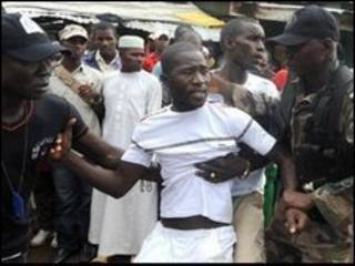 محتجون غانيون