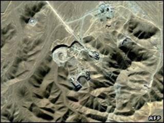 عکس ماهواره ای از تاسیسات غنی سازی فوردو در نزدیکی قم