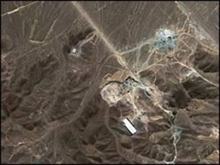صورة بالأقمار الصناعية للموقع المفترض للمنشأة النووية الإيرانية
