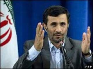 O presidente do Irã, Mahmoud Ahmadinejad