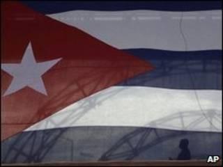 پرچم کوبا در هاوانا