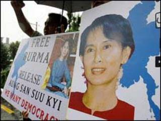 Ủng hộ viên của bà San Suu Kyi tại Seoul, Hàn Quốc