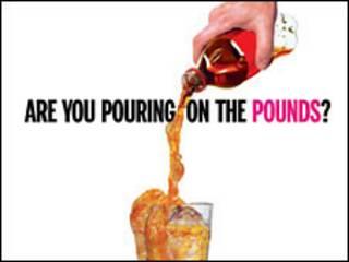 Campanha contra a obesidade divulgada no metrô de Nova York (Foto: Departamento de Saúde de Nova York)