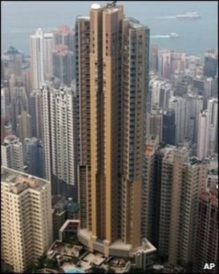 Prédio do número 39 da Conduit Road em Hong Kong