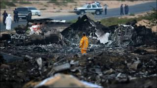 انحرفت الطائرة الى اليمين قبل تحطمها