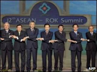Lãnh đạo châu Á tại Hội nghị Asean - Rok