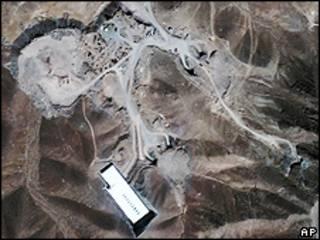 Imagem de satélite da usina próxima de Qom