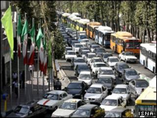 تصویری از ترافیک تهران