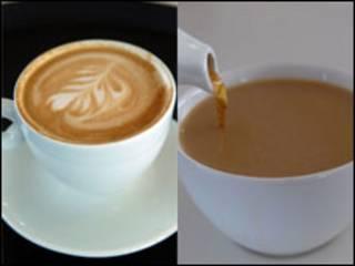 कॉफी, चाय