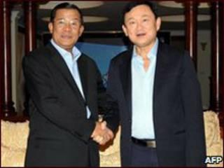 Hun Sen dan Thaksin Shinawatra.