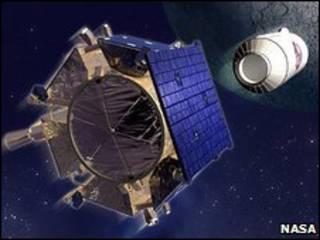Американский аппарат около Луны