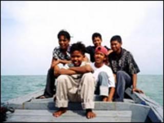مسافران کشتی غرق شده