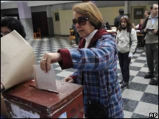 Primera vuelta electoral en Uruguay