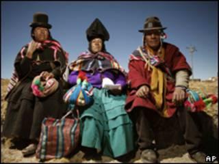 Indígenas bolivianos.