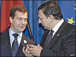 Дмитрий Медведев и Жозе Мануэль Баррозу
