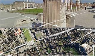 Google maps Pompeii