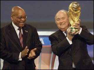 Президенти ФІФА і Південної Африки