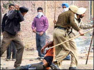 लुधियाना में हिंसा