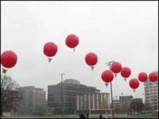 Balões nos EUA