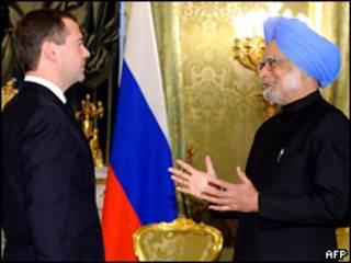 Президент России и премьер-министр Индии
