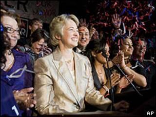 A prefeita eleita de Houston, Annise Parker