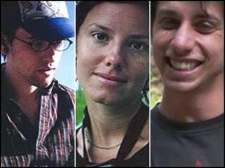 تصویر سه آمریکایی بازداشت شده در ایران