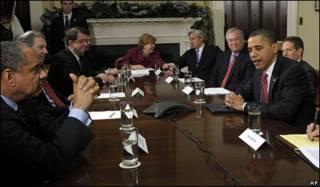 Встреча Обамы с банкирами