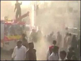 Local da explosão no Paquistão