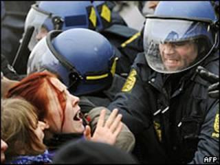 Protestas en Copenhague