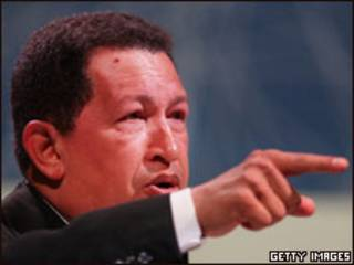 O presidente da Venezuela, Hugo Chávez