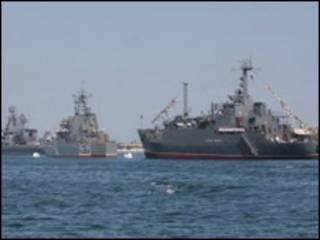 Кораблі Чорноморського флоту Росії в Севастополі. Фото з архіву