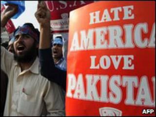 पाकिस्तान में अमरीका विरोधी रैली