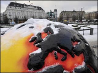 Reprodução do aquecimento global em Copenhague