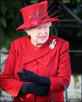 Королева после утренней мессы