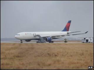 Самолет А-330 в аэропорту Детройта