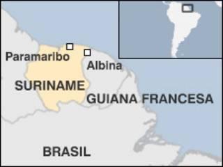A localidade de Albina, na fronteira do Suriname com a Guiana Francesa
