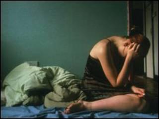 अवसाद से ग्रसित एक लड़की